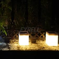 solar powered outdoor l post lights solar powered outdoor led square fence light garden landscape post