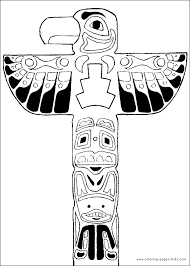 totempole yakari color cartoon characters coloring pages