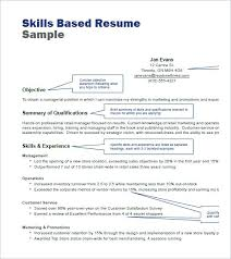 skills based resume samples abilities resumes template doc com