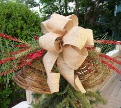 christmas tree topper out of ribbon festive striped ribbon tree