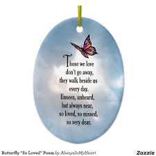 butterfly so loved poem sided oval ceramic