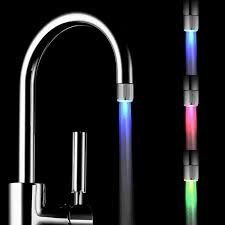 led faucet light color changing led kitchen faucets and faucet - Led Kitchen Faucet