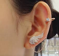 cuff earings ellangelcollection angel wing cuff earrings online