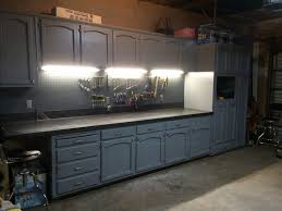 Refurbishing Kitchen Cabinets Yourself Refurbished Kitchen Cabinets For The Ultimate Work Bench Garage