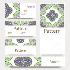 Islamic Invitation Cards Business Cards Pattern With Islamic Persian Ornament Includes
