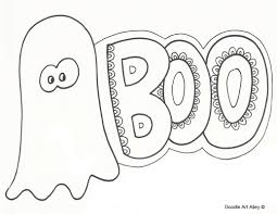 Halloween Ghost Coloring Pages by Halloween Coloring Pages Doodle Art Alley