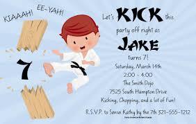karate birthday party invitations vertabox com