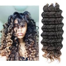 crochet hair 22 80g crochet bulk hair weft wave synthetic hair extension