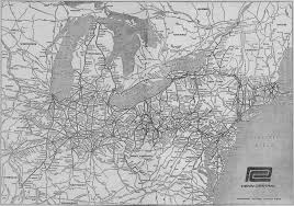 Pennsylvania Railroad Map by The Penn Central Railroad