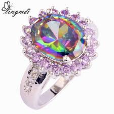 wholesale engagement rings compare prices on rainbow oval online shopping buy low price
