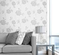 Grey Wallpaper Living Room Uk Fine Decor Torino Grey Floral Wallpaper Fd40190