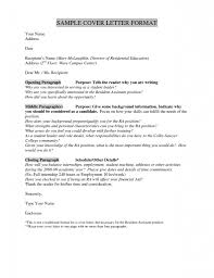 Closing For Cover Letter Cover Letter Address Format