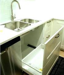 kitchen cabinet trash pull out under sink trash can under counter trash can under cabinet trash