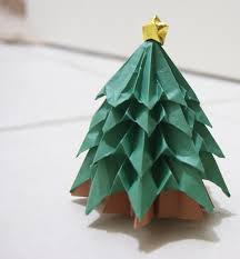 marvelous origami tree ornaments