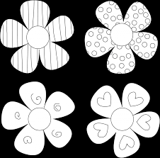 printable flowers to color flower coloring pages images of pencil