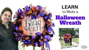 make a halloween wreath wreath making of the month club halloween wreath youtube