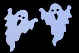 image of 2 flying ghosts creepyhalloweenimages