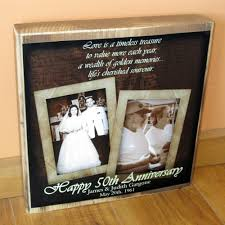 50 wedding anniversary gift ideas 50th wedding anniversary gift personalized photo collage blocks