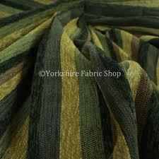 enya designer soft luxury striped fabric green colour chenile jo 555