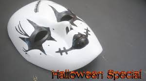 how to make scary mask for halloween last minute youtube