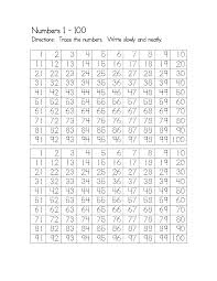 printable number trace worksheets activity shelter
