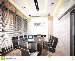 3d rendering of interior conference room stock illustration