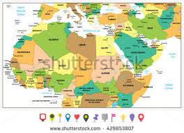 east political map political map middle east stock images royalty free images