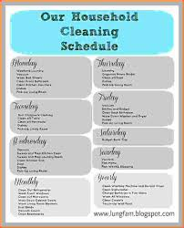 cleaning report template daily house cleaning schedule free