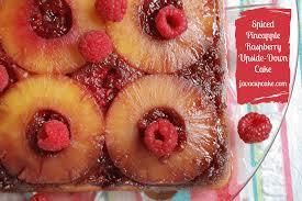spiced pineapple raspberry upside down cake javacupcake