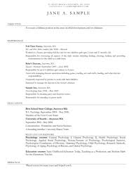 Resume Sample For Retail Job by Child Care Provider Resume Template Learnhowtoloseweight Net