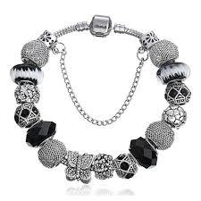 black bracelet charms images Pandora bracelets fashion pendant charm bracelet women gift jpg