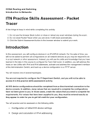 itn practice skills assessment packet tracer i pv6 computer