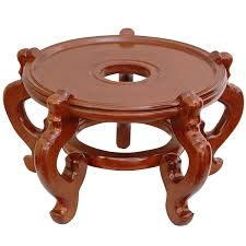 amazon com oriental furniture rosewood fishbowl stand honey