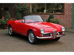 alfa romeo classic spider 1962 alfa romeo giulia spider for sale classiccars com cc 1050275