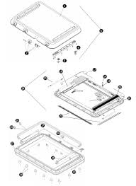 heki 3 roof hatch cover with manual winder raising system