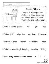 reading comprehension passages designed to help kids learn to