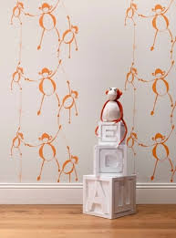 monkey wallpaper for walls whimsical wallpapers for children s rooms