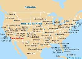 california map in us airports in california map map of palm springs airport psp