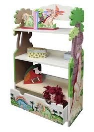 childrens dinosaur kingdom bookcase includes 3 shelves and a