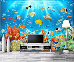 online get cheap aquarium wall paper aliexpress com alibaba group custom mural photo 3d wall paper marine aquarium fish coral room decor painting 3d wall murals