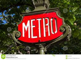 Paris Subway Red Paris Metro Subway Sign Closeup Editorial Stock Image Image