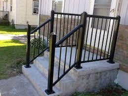 railings for front porch steps unique shaped decoration fence