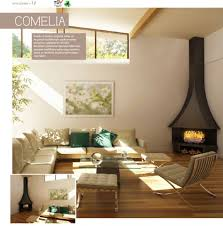 fireplace modern living room decoration with black freestanding