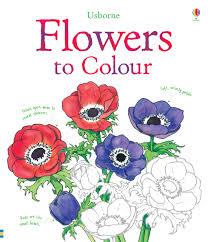 flowers to colour usborne colouring books amazon co uk sue