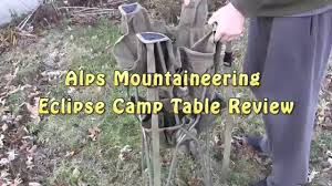alps mountaineering camp table review youtube