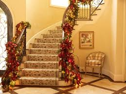Luxury Homes Decorated For Christmas Ideas To Decorate Stairs For Christmas U2013 Interior Decoration Ideas