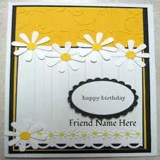 handmade birthday wishes card with girls name creator