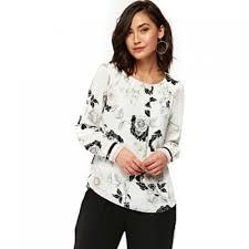 shell blouse black leaf shell blouse item no 36194 202231006