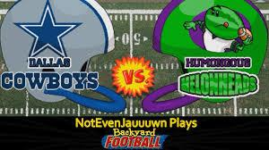 game 14 of backyard football dallas cowboys vs humongous