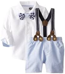mud pie baby boys suspender set clothing